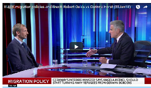 Robert Oulds discusses immigration, Brexit and the EU on Sky News