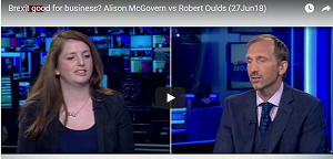 Brexit good for business? Robert Oulds debates with New Labour MP Alison McGovern on Sky News