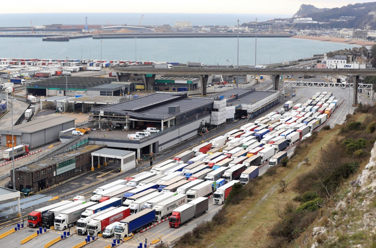Lorries in Dover